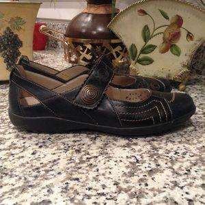 Rieker Antistress Black Mary Jane Loafers, Size 40